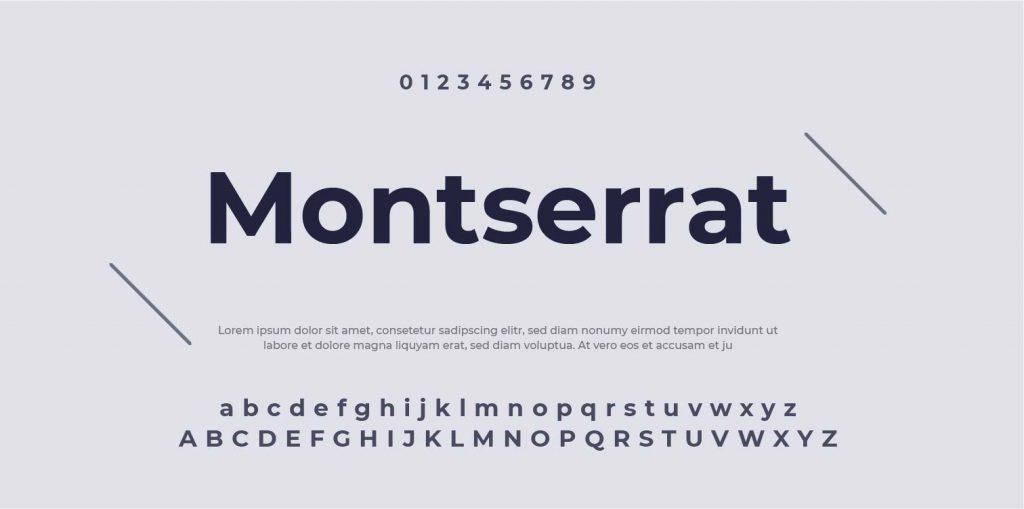 Google Font-Montserrat