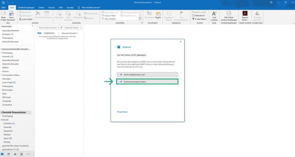 Outlook 2019 Imap 0