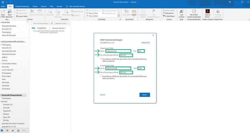 Outlook 2019 Imap 2
